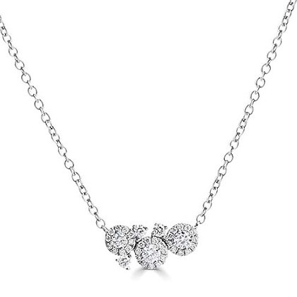 """Dew "" diamond cluster pendant"