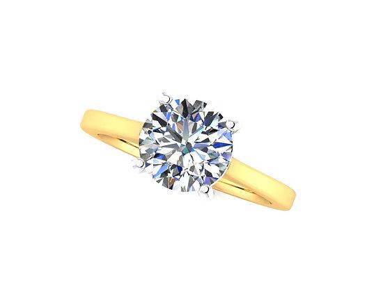 Classic Round Brilliant Cut Solitaire diamond ring