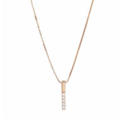 Drop Gold bar diamond pendant