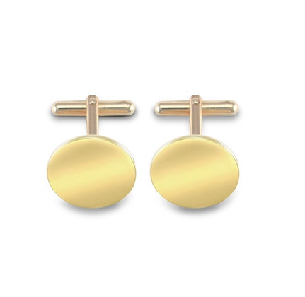 9k Solid Gold Circle cufflinks