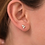 Thumbnail: Diamond bubble studs bezel set