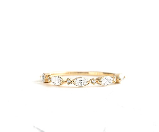 Marquise and Round eternity band