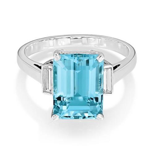 Emerald Aquamarine Diamonds Rubover Siderstones