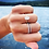 Thumbnail: Floating Oval Diamond engagement ring with straight thin band