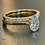 Thumbnail:  Oval Diamond engagement ring with Bridge diamonds