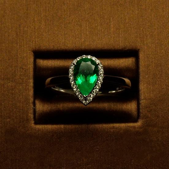 Pear Shaped Emerald Halo