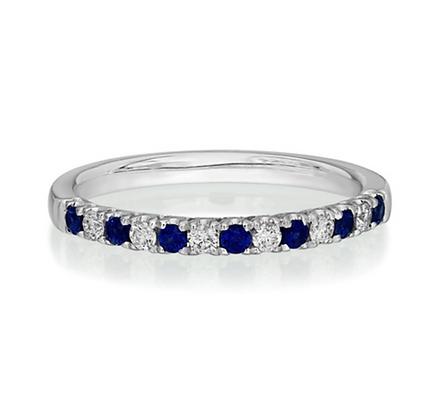Sapphire and Diamond 1.7mm Eternity