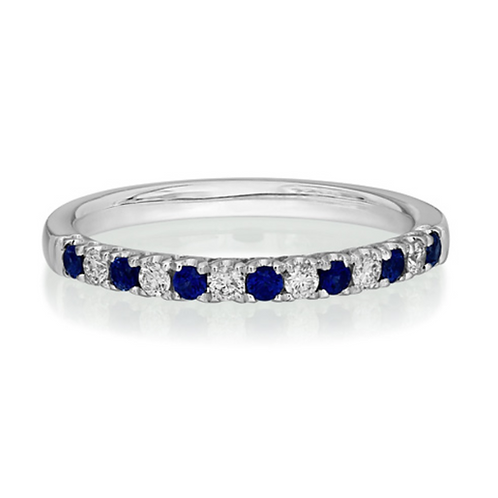 Sapphire and Diamond Eternity
