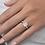 "Thumbnail: ""Galaxy"" Cushion cut diamond Halo Engagement ring"