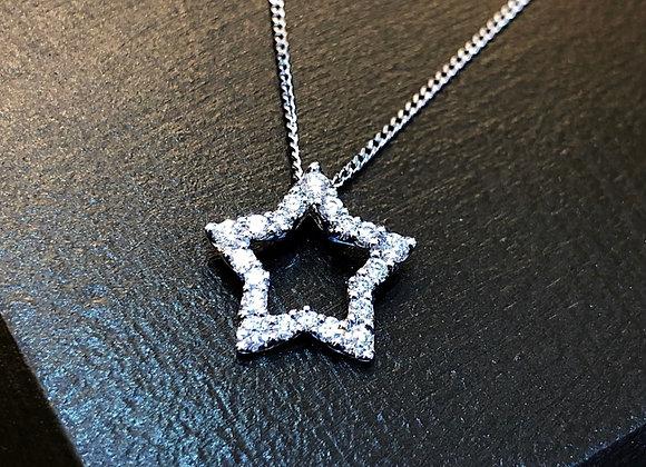 Star shape diamond pendant