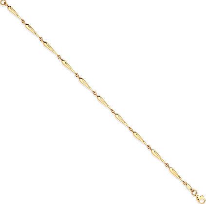 9k Gold tear drop link bracelet
