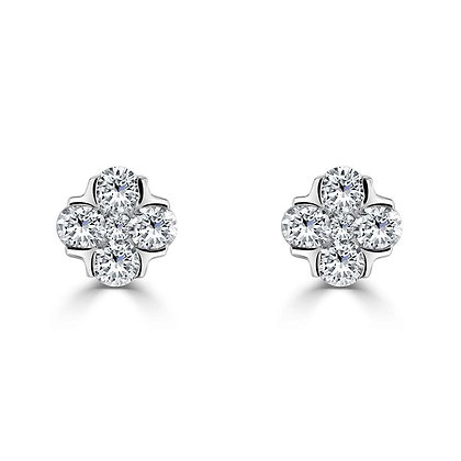 """Posy"" Diamond stud earrings"
