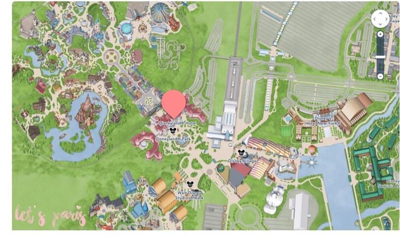 Mapa Disneyland Hotel