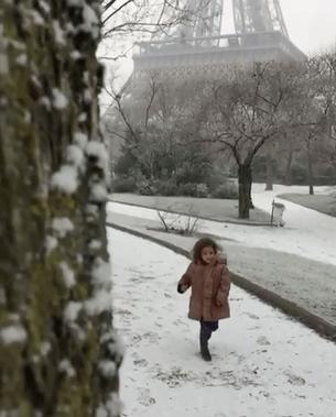 Paris com crianças no inverno
