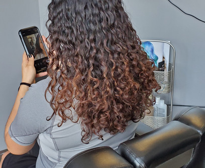 Bringing curls back to life.