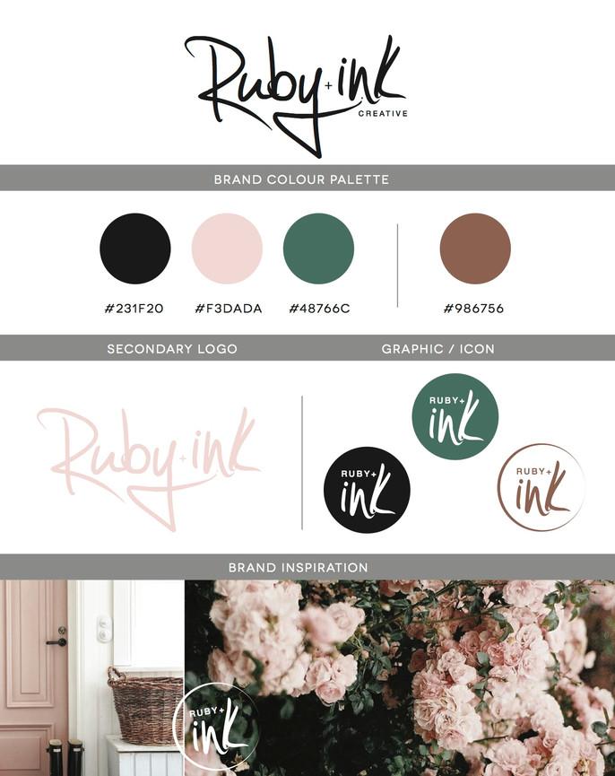 RUBY + INK Re-Branding