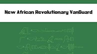 UrBan Philosophy: New African Revolutionary VanGuard - The Green Book