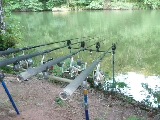 Les cannes à pêche sont installées
