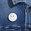 Thumbnail: Boho Flower Crown Ghost Button Pin