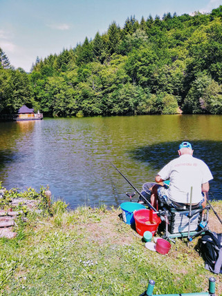 Pêche depuis la berge du lac