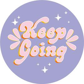 keep going - blue