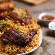Dum Biryaani With Chicken Tandoori