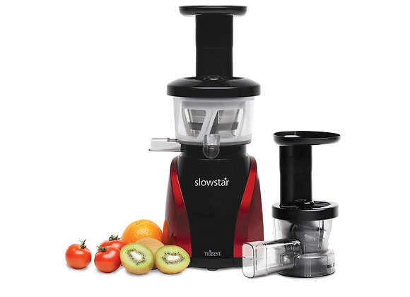 Slowstar Vertical Juicer & Mincer (Red/Black) - Tribest