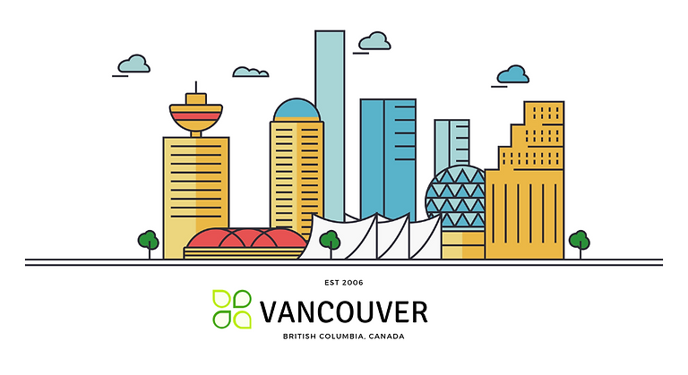 Vancouver - Silhouette Vector (1100 x 60