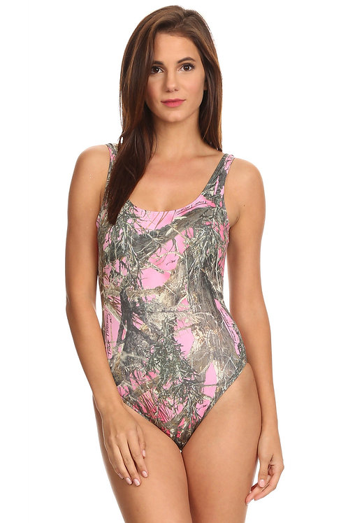 Women's 1-Piece Pink Camo Bikini True Timber Swimwear Made in the USA