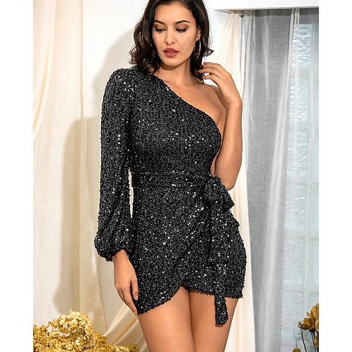 Aria Black Sequin Dress