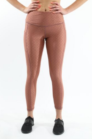 SALE! 50% OFF! Roma Activewear Leggings - Copper [MADE IN ITALY] - Size Small