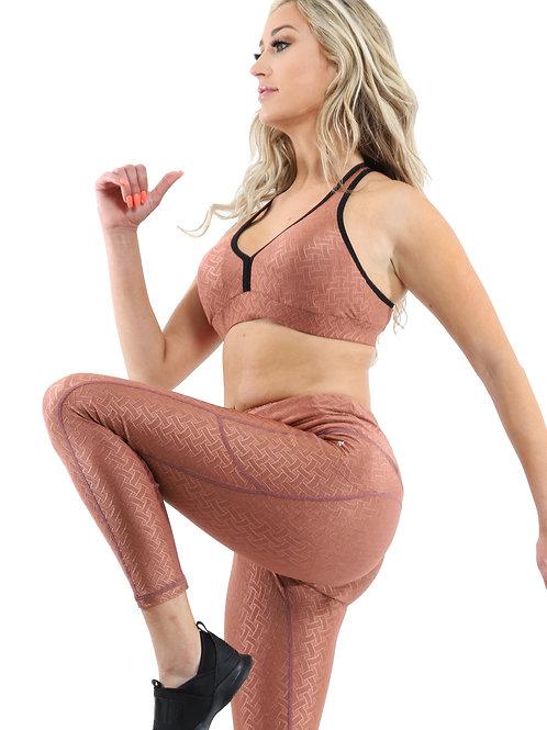 SALE! 50% OFF! Roma Activewear Set - Leggings & Sports Bra - Copper - Size Small
