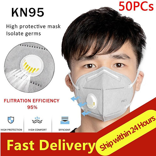 High Quality Mascarillas マスクFFP3 KN95 Face Mask Masque With Air Valve Respirator