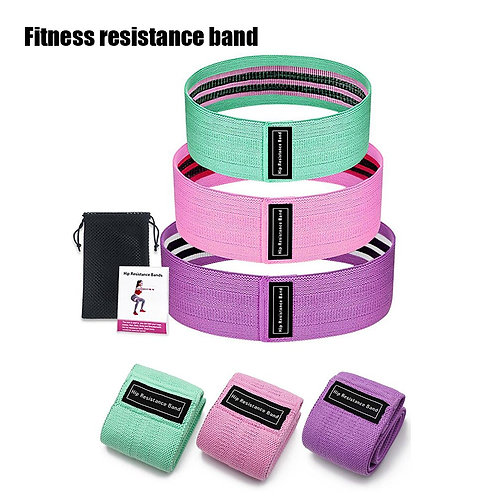 Elastic Band for Fitness Resistance Bands 3-Pc Set Fitness Rubber Bands Expander