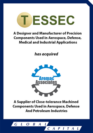 Global Capital Markets Advises TESSEC in its acquisition of Aremac Associates, Inc.