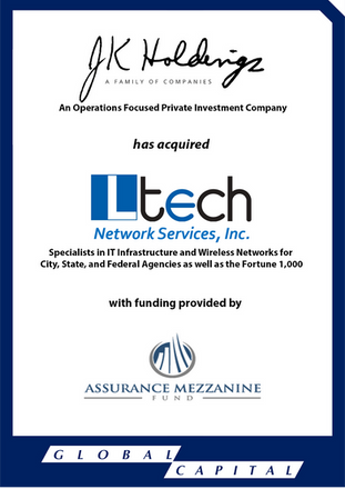 Global Capital Markets Advises L Tech Network Services, Inc. in its Sale JK Holdings, LLC.