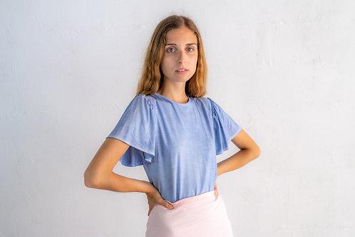 Gathered Short Sleeve T-shirt 02