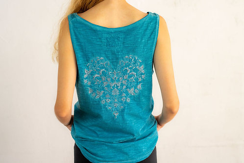 Embroidered Heart Top 06