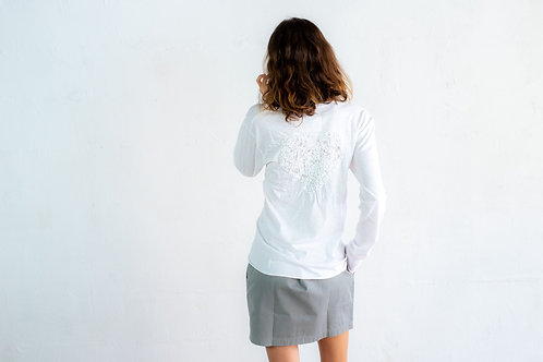 Embroidered Heart Long Sleeve T-shirt 08