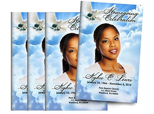 Peaceful Skies Bifold Funeral Program De