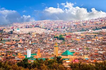 Aerial view on medina of beautiful city