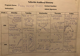 This is a SAMPLE itinerary. Activities will vary year to year.