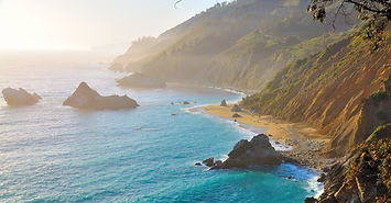 Big Sur, California, USA. Road trip alon