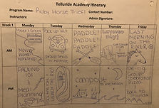 This is a SAMPLE itinerary from a previous summer. Specific activities will vary from year to year.