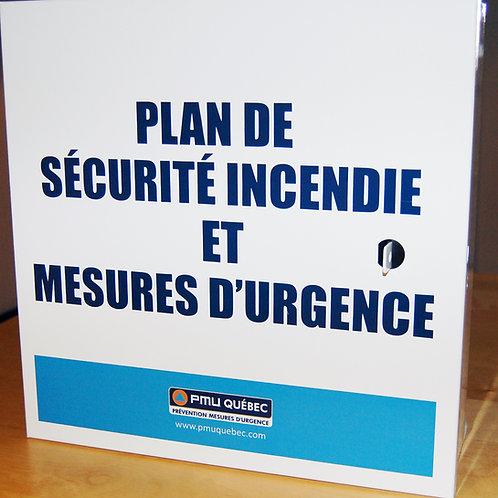 Boîtier Plan de sécurité incendie et Mesures d'urgence