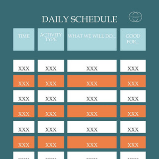 Detailed Daily Schedule Template
