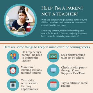 Help, I'm a parent not a teacher