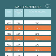 Simple daily schedule template