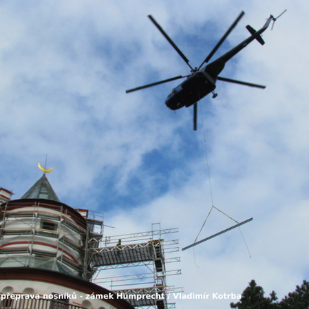 Vrtulník na Humprechtu