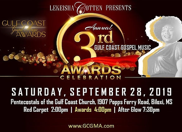 2019 Gulf Coast Gospel Music Awards Sept